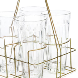 Chai Rack with 4 Large Glasses