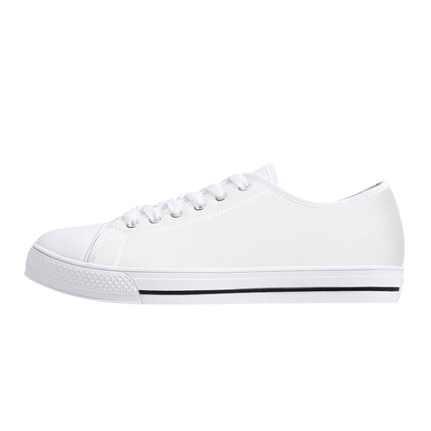 CustomDesigned Damen/Herren Low-Top Canvas Shoes Weiss D24 W