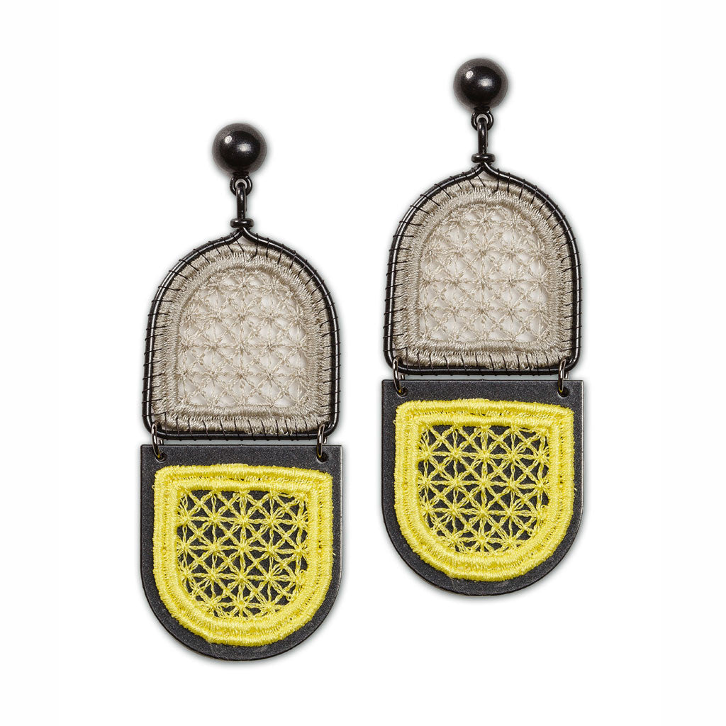 Abstract Window Lace Earring