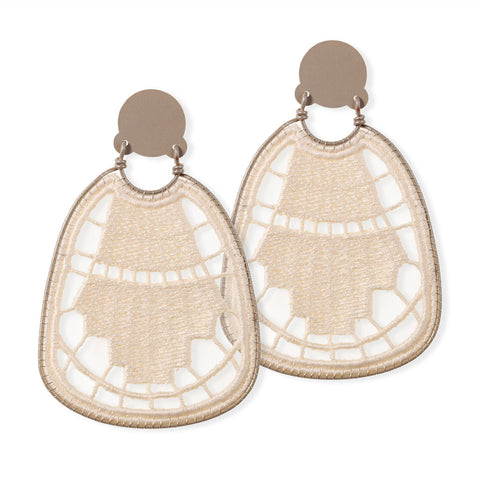 Art Deco Lace Earrings