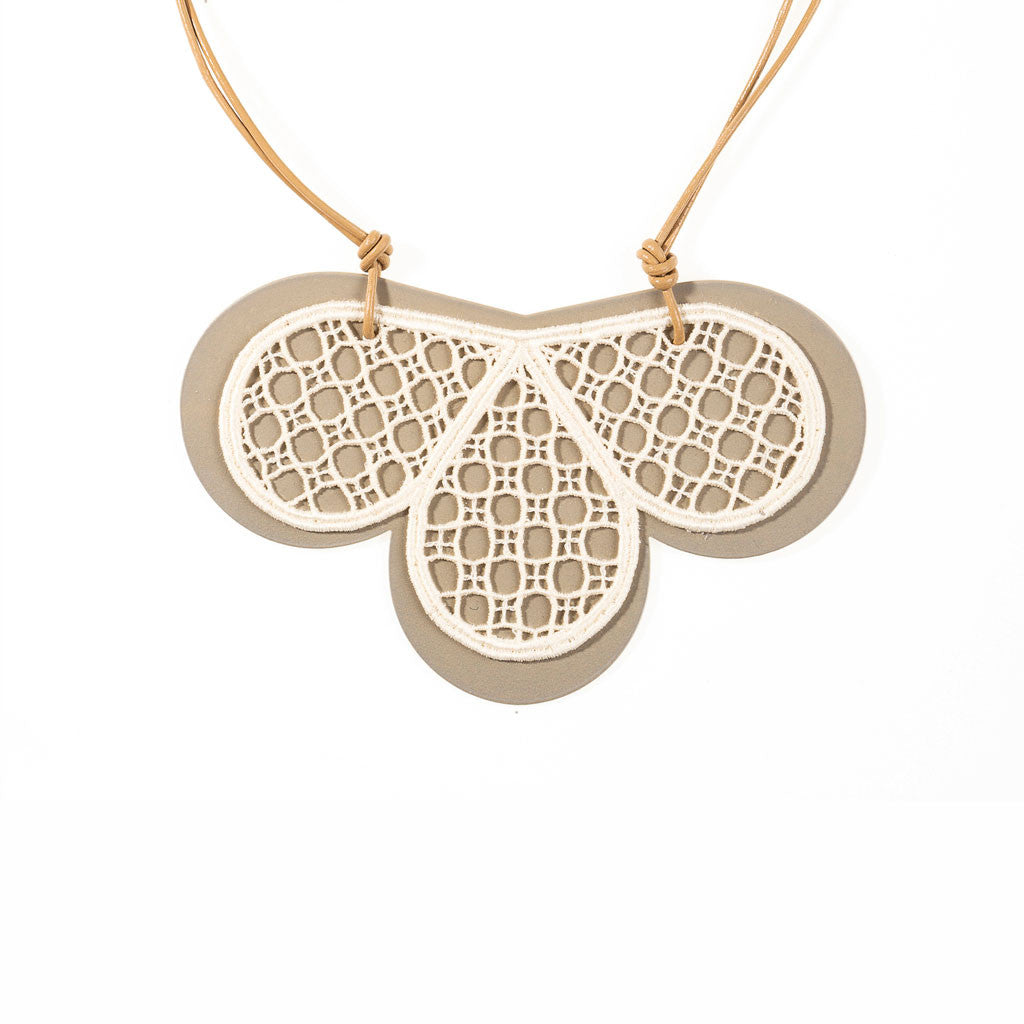 Clover Drop Lace Necklace