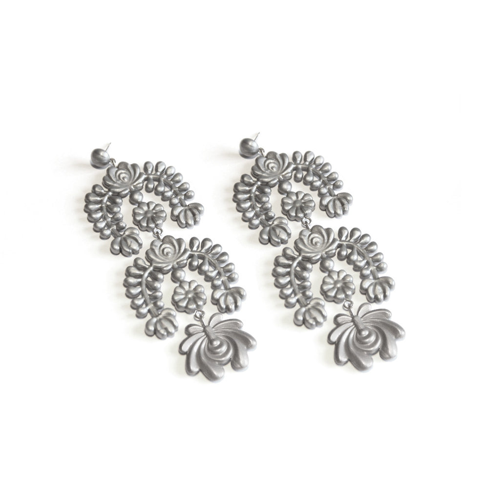 Oversized Garland Chandelier earrings Lokalwear Shop Online – Oversized Chandelier Earrings