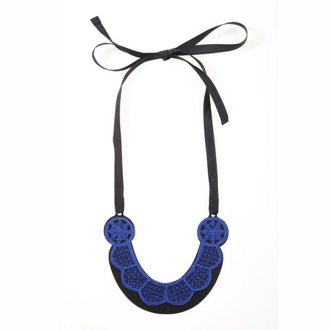 Scalloped Horseshoe Lace Necklace