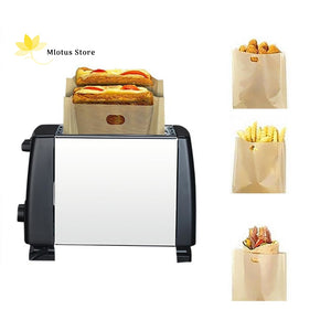 5Pcs/set Reusable Non-Stick Toaster Bags
