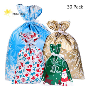 Drawstring Holiday Gift Bags