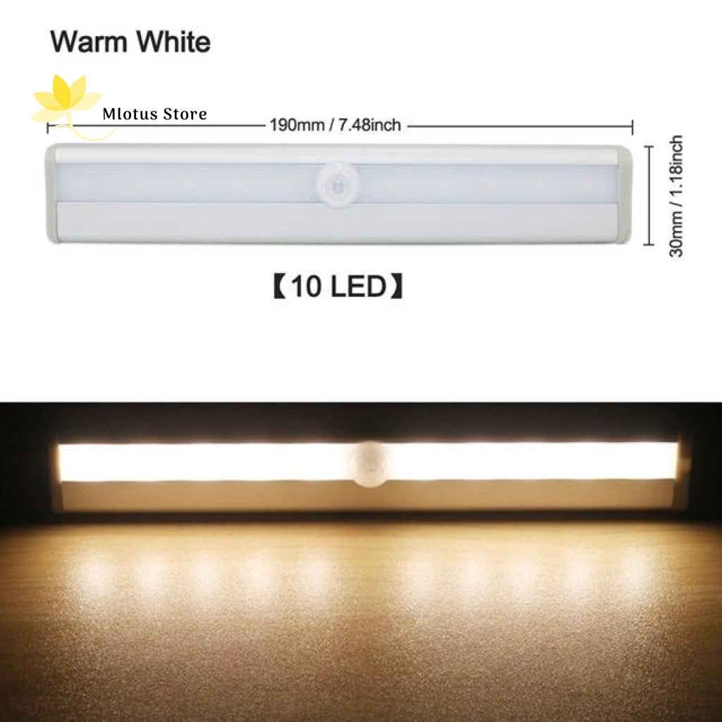 Led Motion Sensor Cabinet Light - Wireless Stick On Anywhere Battery Operated Warm White