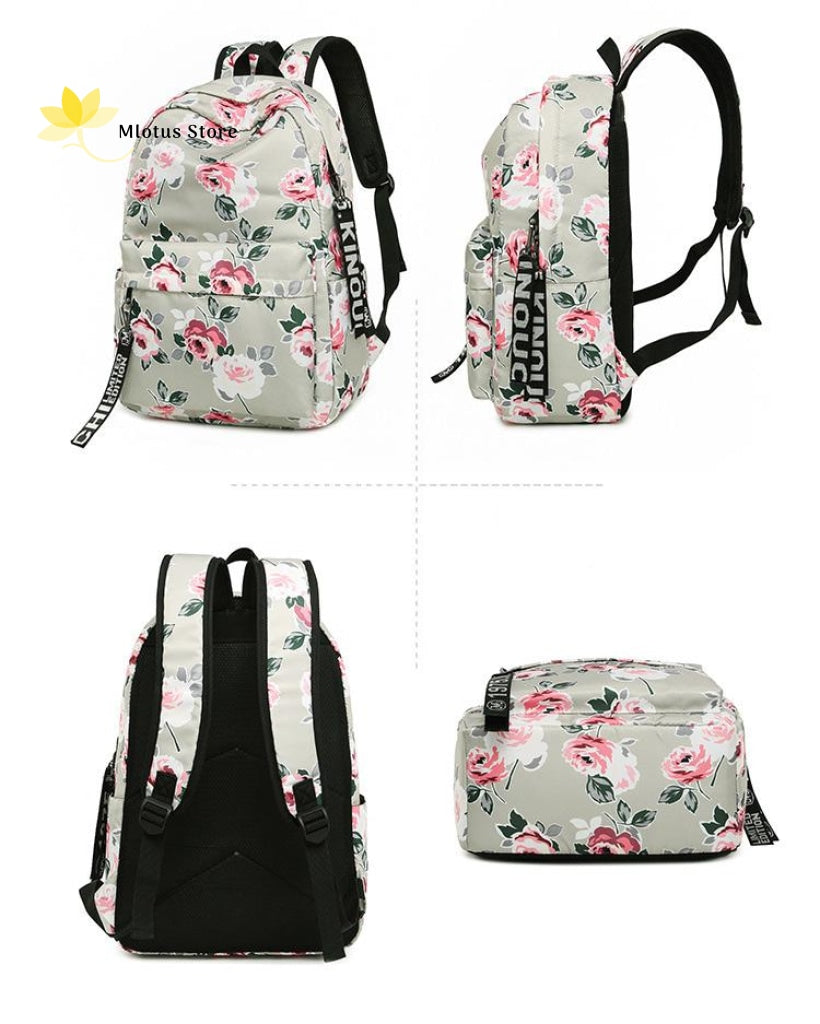 Lovely Floral Backpack