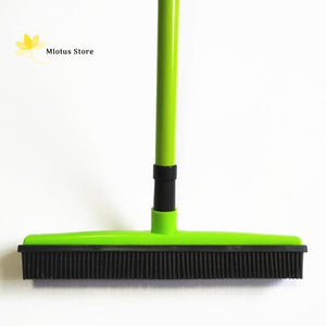 Multifunctional Hair Removal Rubber Broom Green