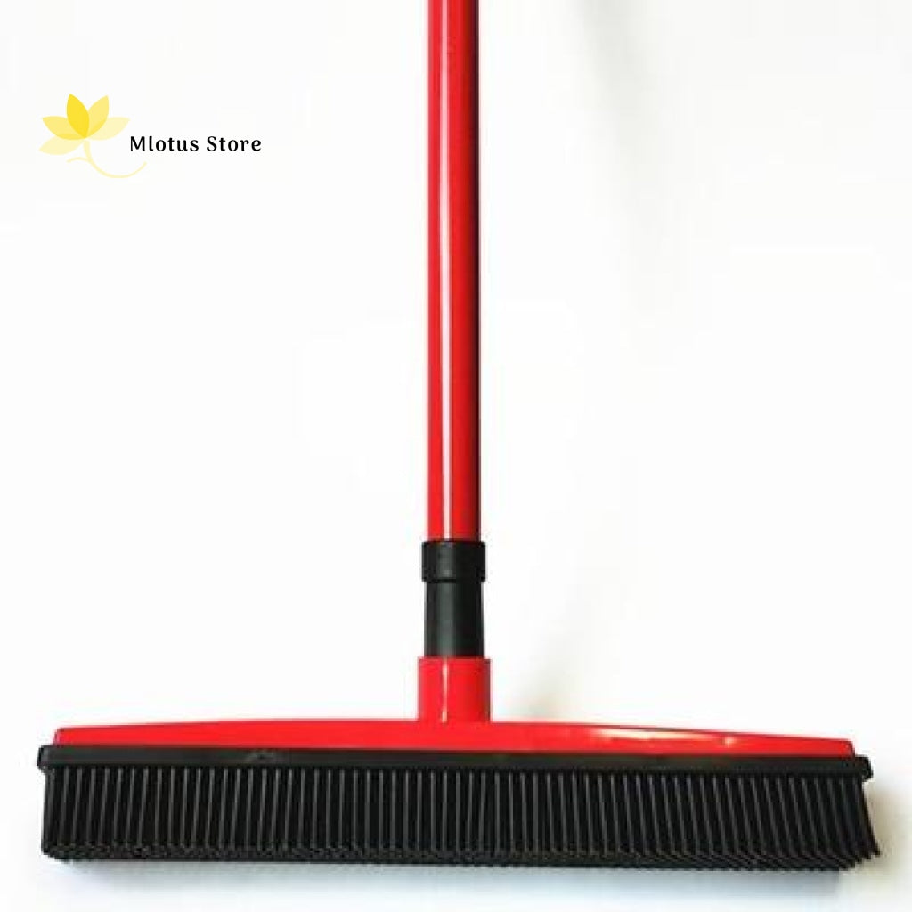 Multifunctional Hair Removal Rubber Broom Red
