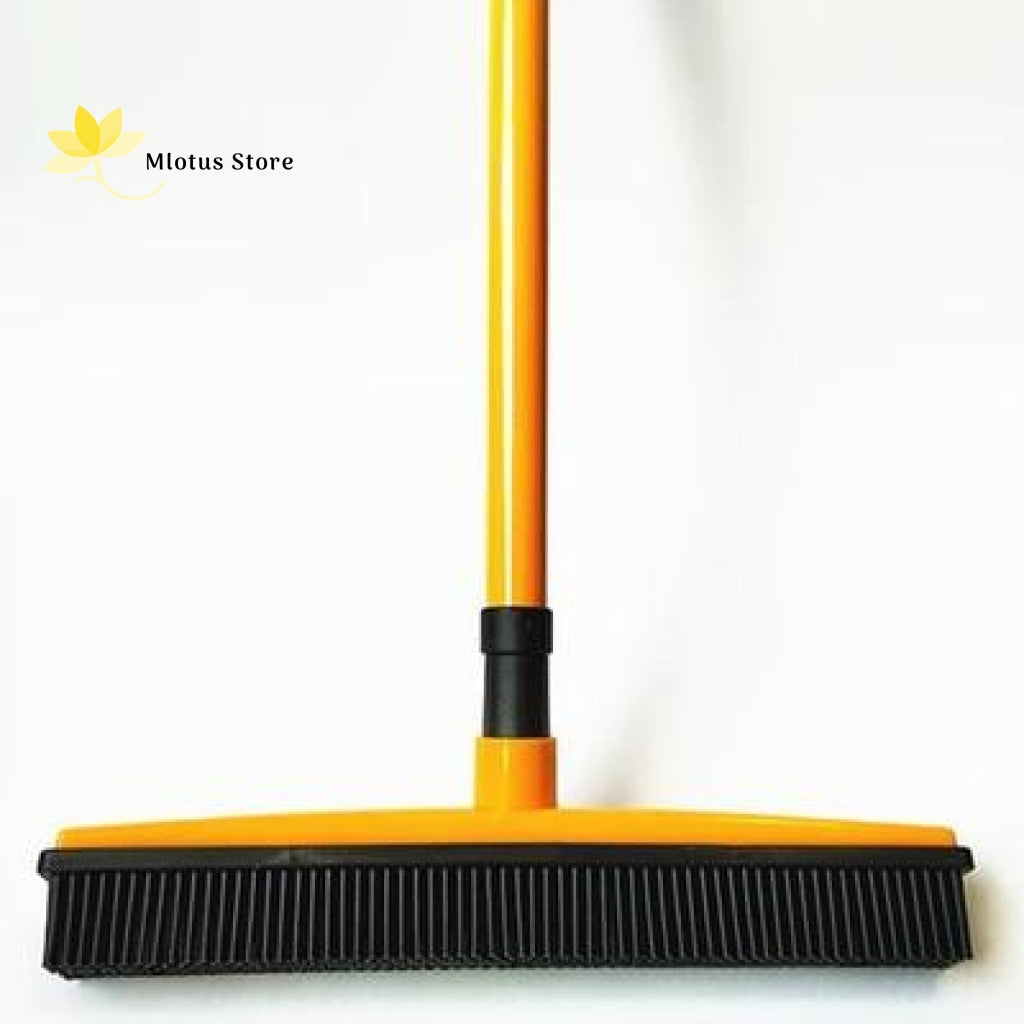 Multifunctional Hair Removal Rubber Broom Yellow