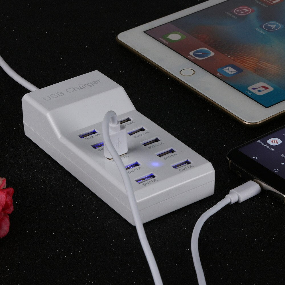 10-Port Multi USB Charger