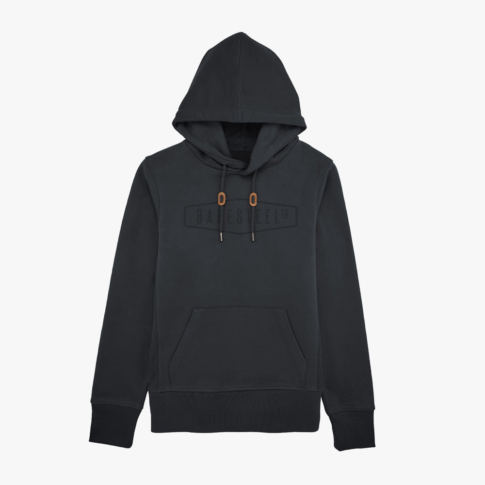 Heren Hoodie 'Baresteel' black-on-black