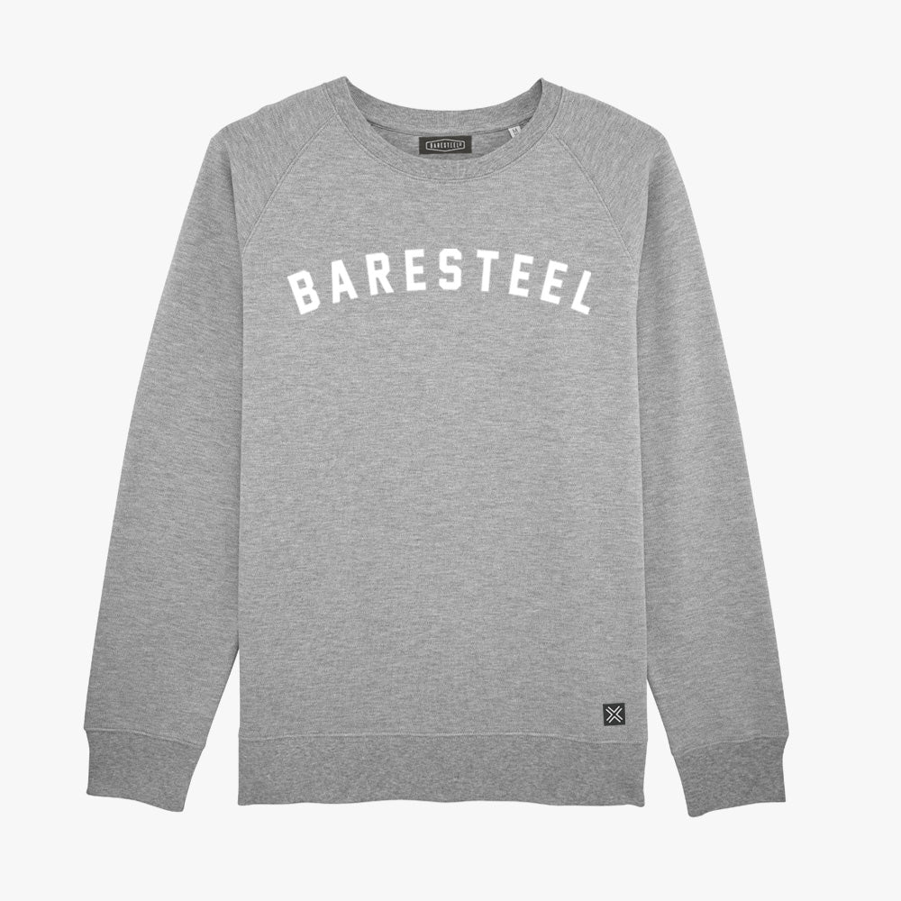 Heren crew sweater Baresteel puff-print