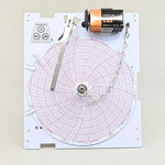 "Customizable 6"" Single Pen Recorder with Pressure Sensitive (Inkless) Chart"