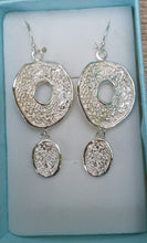 Load image into Gallery viewer, silver chandelier earrings