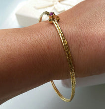 Load image into Gallery viewer, Stackable Gold Bangle