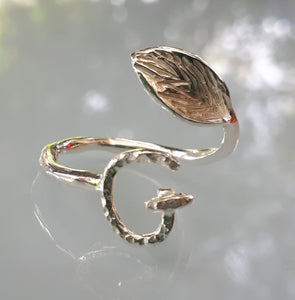 Initial Silver Ring