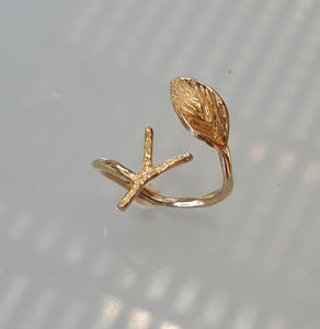 Initial Gold Ring
