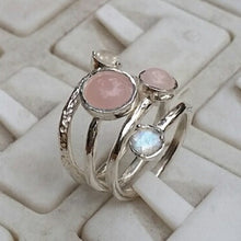 Load image into Gallery viewer, moonstone silver ring
