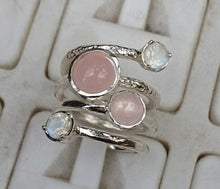 Load image into Gallery viewer, Rose Quartz Silver Ring