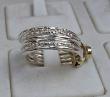 Load image into Gallery viewer, Silver And Gold Ruby Spinner Ring