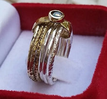 Load image into Gallery viewer, Opal Gold Silver Stackable Ring
