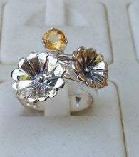Load image into Gallery viewer, citrine silver flower