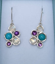 Load image into Gallery viewer, silver multistone earrings