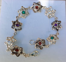 Load image into Gallery viewer, Silver Star Of David Bracelet