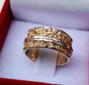 Gold Spinner Ring Mix Metal