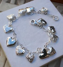 Load image into Gallery viewer, Ankle Silver Heart Bracelet