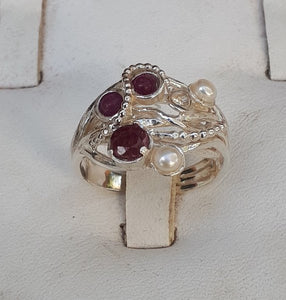 Multistone Silver Ring