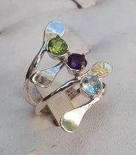 Load image into Gallery viewer, Gemstones Silver Ring
