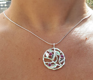 Silver Leaves Pendant