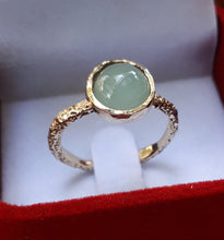 Load image into Gallery viewer, Gold Ring With Aquamarine