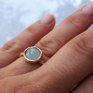 Gold Ring With Aquamarine