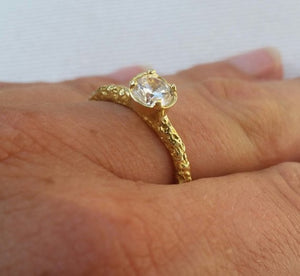 zircon gold ring