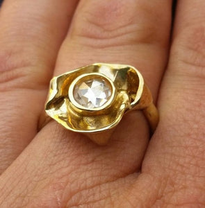 engagement gold ring