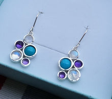 Load image into Gallery viewer, moonstone silver earrings