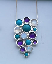 Load image into Gallery viewer, Multistone Silver Pendant
