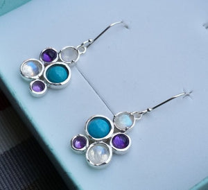 Silver Multistone Earrings