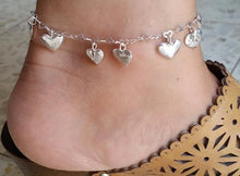 Load image into Gallery viewer, silver ankle bracelet