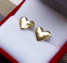 Load image into Gallery viewer, Gold Heart Stud Earrings