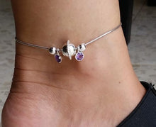 Load image into Gallery viewer, ankle silver bracelet