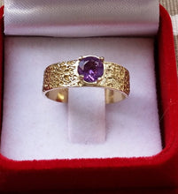 Load image into Gallery viewer, amethyst gold ring