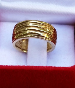 gold unisex wedding band