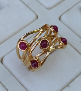 multistone gold ring
