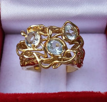 Load image into Gallery viewer, blue topaz gold ring