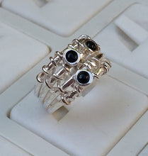 Load image into Gallery viewer, Onyx Silver Ring