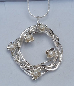 Silver Pearls Pendant